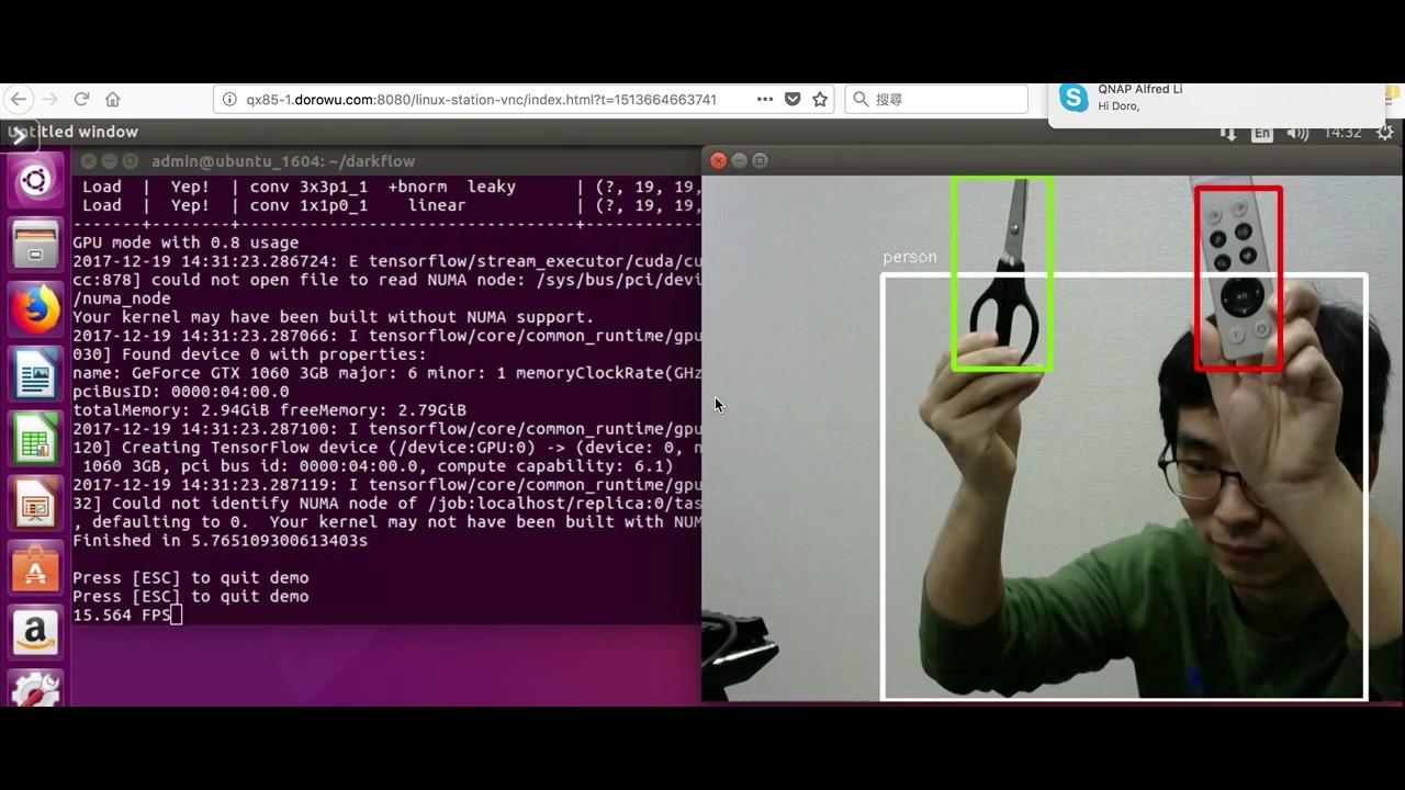 Doro One Two Three: 在NAS - Ubuntu 16 04 上使用TensorFlow 做即時影像