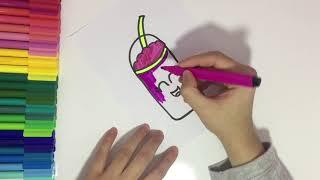 Sevimli İçecek Nasıl Çizilir? How To Draw Cute Drink?