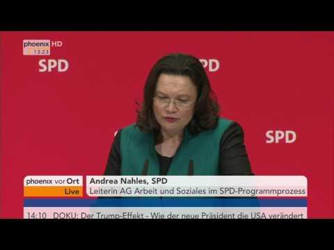 Agenda 2010: Statements von Andrea Nahles und Katarina Barley am 06.03.2017