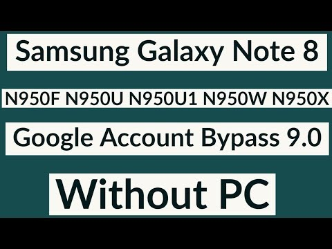 Samsung N950F Frp Bypass 9.0 | Samsung Note 8 Google Account Remove 9.0 | Without PC |