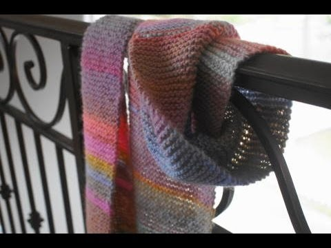 Left Handed Knitting Patterns : Left Handed Knitting Tutorial, Garter Stitch Tutorial, Scarf Pattern - YouTube