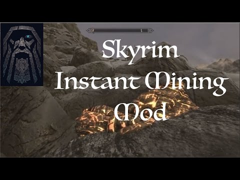 Skyrim SE Glowing Ore Veins And Instant Mining Mods