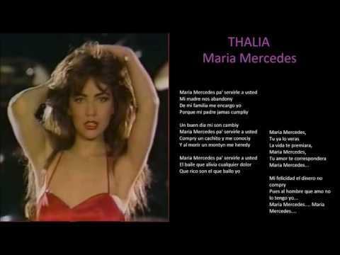 thalia maria mercedes + lyrics