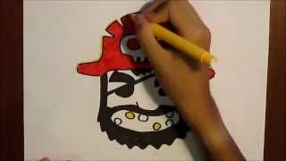 How to draw the pirate  from PIRATE KINGS