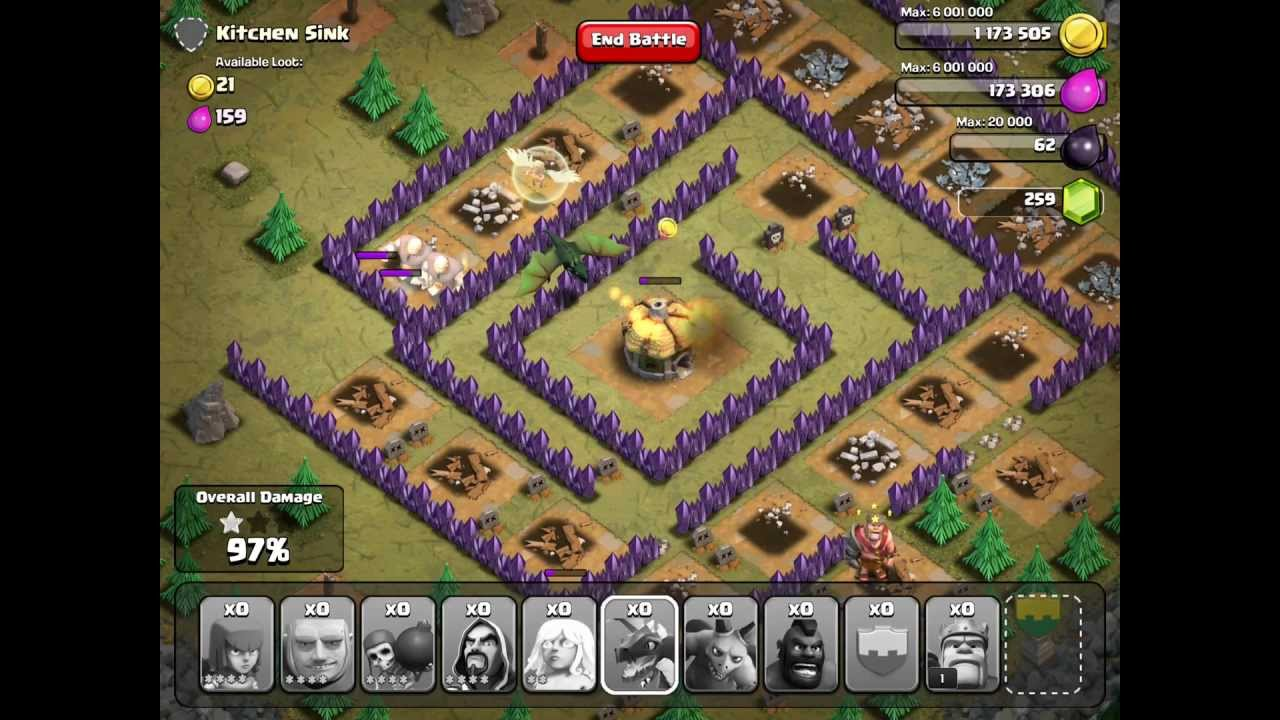 Clash Of Clans Kitchen Sink Single Player 100