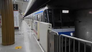 福岡市交通局2000N系・天神駅を発車