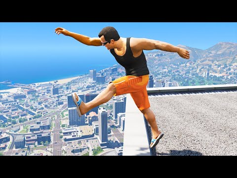 GTA 5: Jumping off Highest Buildings - Funny Moments #2 thumbnail