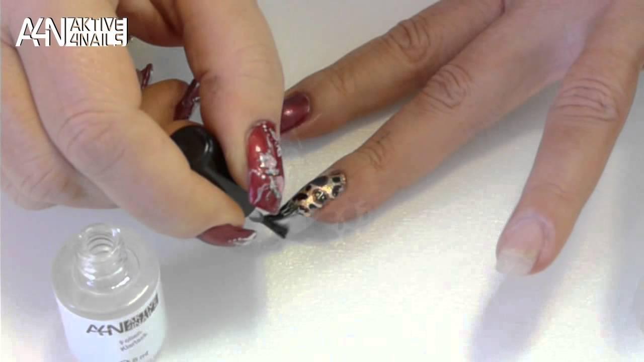 Anleitung Fingernagel Folien Set In Trendy Metallicfarben Fullcover Und Glitter