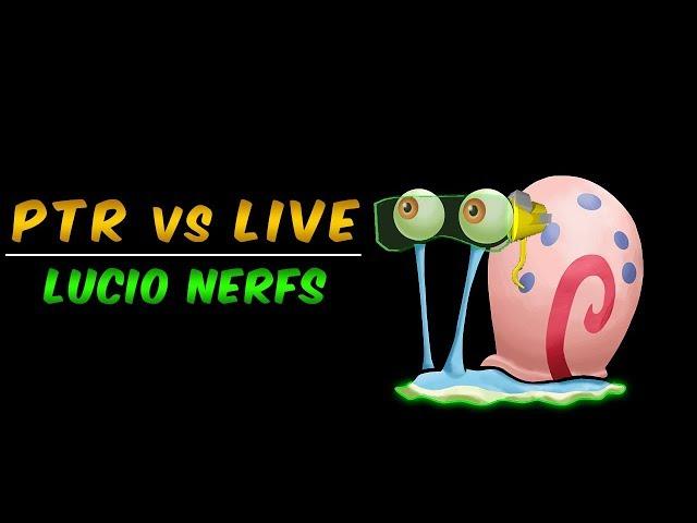 PTR vs LIVE - Lucio Nerfs 1.34.0.0
