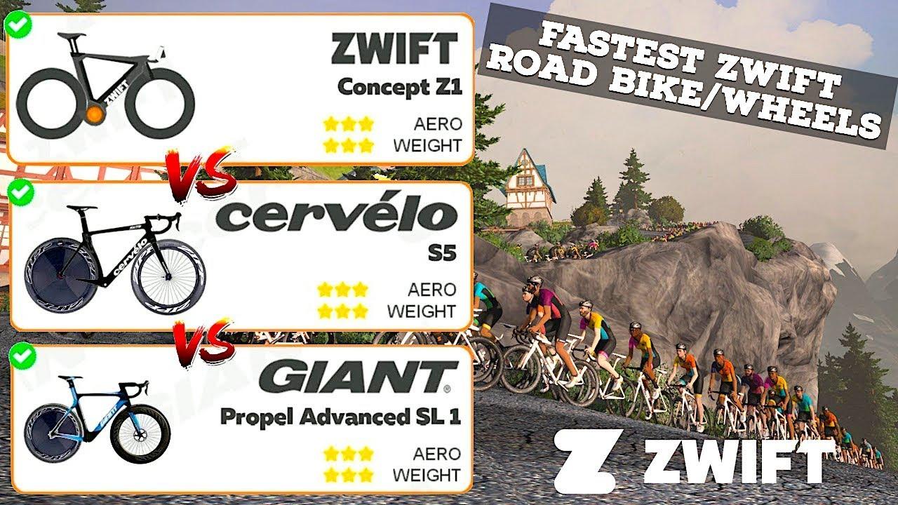 Fastest Zwift Road Bike Wheel Test Tron Bike Vs Cervelo S5 Vs Giant Propel Youtube