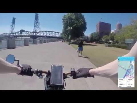 PDXevgrin 007: DIY Electric Bike Commute (28 miles) 48V 1000W