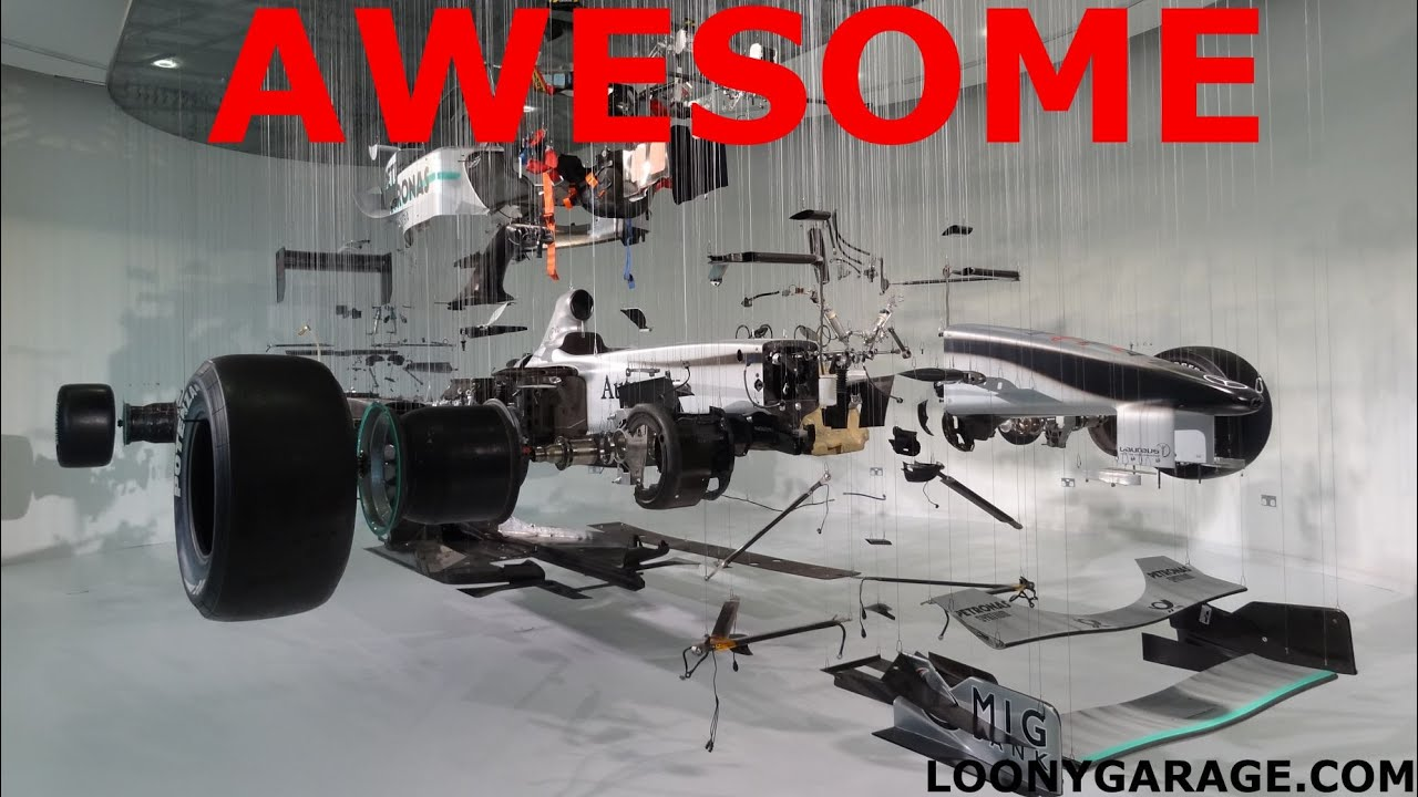Formula One Exploded View Art Car - YouTube