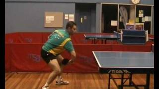Table Tennis Backhand Topspin Against Backspin