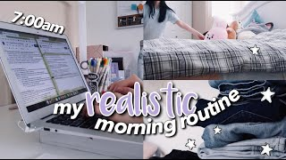 My Realistic & Productive Morning Routine (7AM)