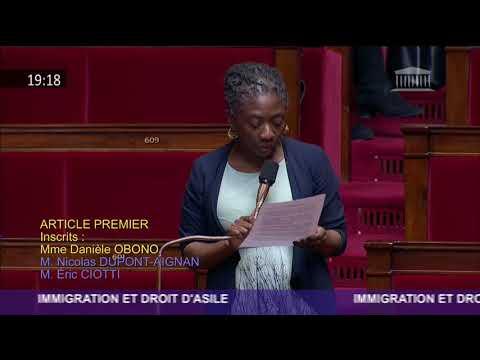 Obono sur l'article 1 de la loi asile immigration