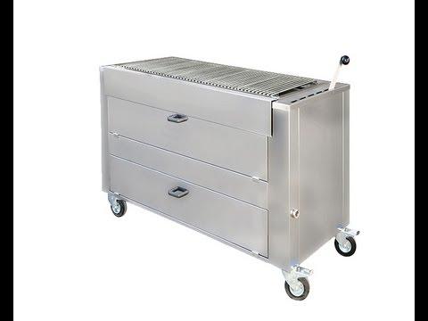 barbecue professionnel au feu de bois ou charbon doovi. Black Bedroom Furniture Sets. Home Design Ideas