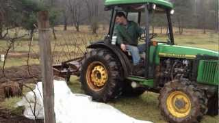 Chisel plowing with a John Deere 5400N Orchard Tractor