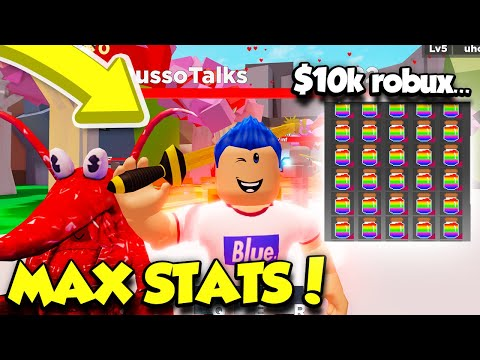 I Spent 15,000 ROBUX On RAINBOW POTIONS In RPG Simulator To Get MAX STATS!! (Roblox)