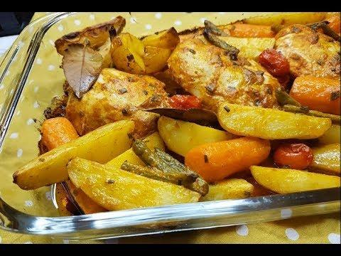 poulet-avec-ces-légumes-au-four/-one-pan-chiken-&vegetables
