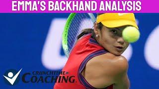 Emma Raducanu Backhand Slow Motion Analysis