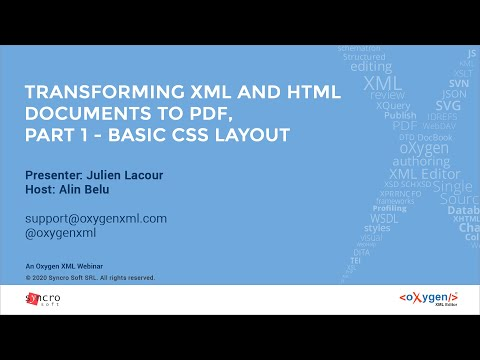 Webinar: Transforming XML And HTML Documents To PDF, Part 1 - Basic CSS Layout
