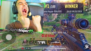 MI PRIMERA PARTIDA EN EL BATTLE ROYALE de Call Of Duty MOBILE *NUEVO COD GRATIS* - AlphaSniper97