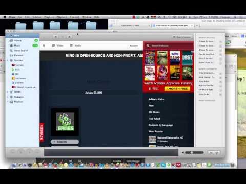 Using Miro to convert FLV movies