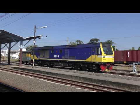 State Railway of Thailand - Udon Thani - December 2016 - 4K