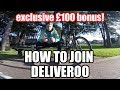 How to ride with Deliveroo, Application process explained