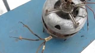 видео Однофазный электродвигатель: схема подключения