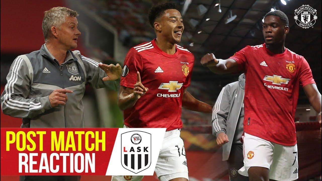 Solskjaer, Lingard & Mengi react to Europa League win | Manchester United 2-1 LASK