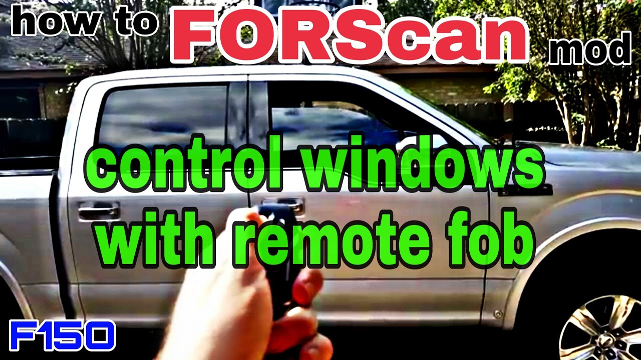 Forscan ford f150 power windows up & down with key fob remote control