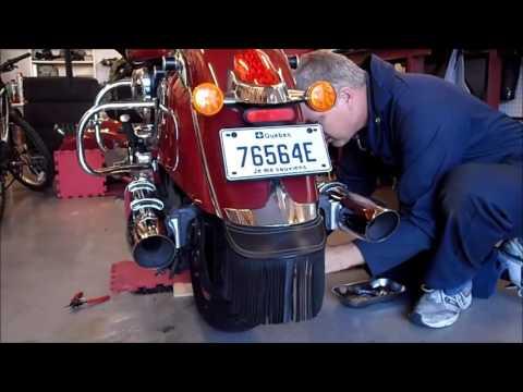 Démontage et remontage roue arrière, Chieftain 2014