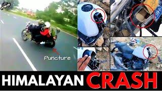 Himalayan Accident Crash due to Puncture & Chassis Break | Facts & Details You Should Know