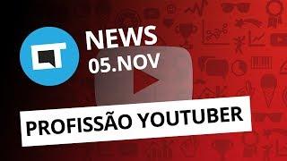 """Youtuber com carteira assinada; """"Pegadinha"""" no ENEM 2018; iPhone 5G e+ [CT News]"""