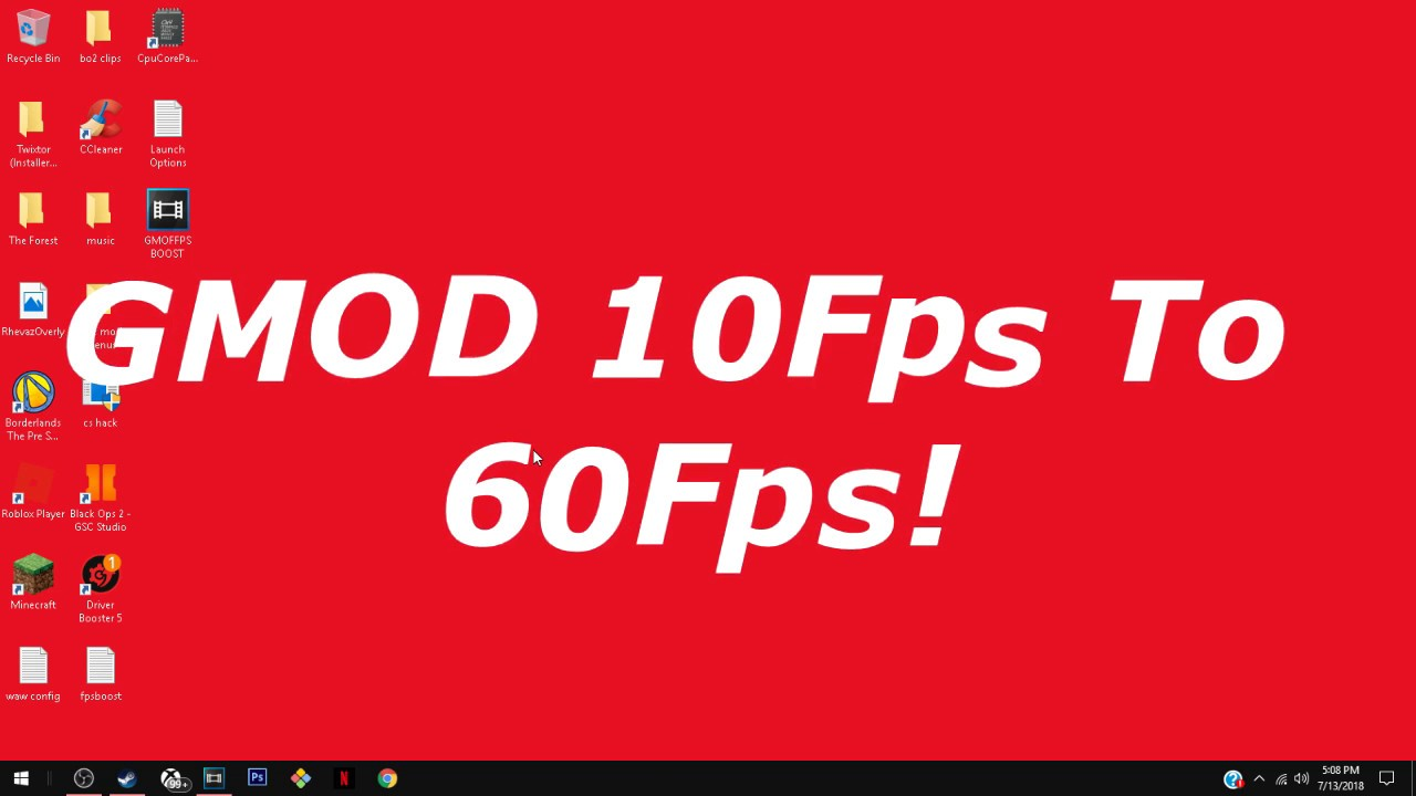 how to increase fps in gmod