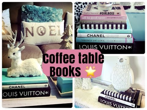 Glam Christmas Home Decor Coffee Table Book Styling
