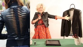 How to make a DIY Dion Lee leather jacket as seen on Christine Centenera : Fashion Attack Thumbnail