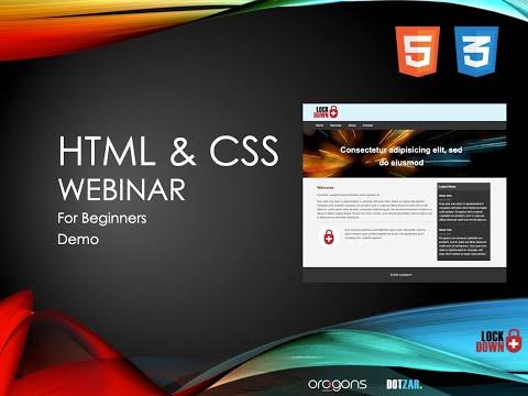 HTML & CSS Webinar - Demo