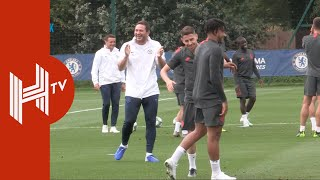Frank Lampard leads Chelsea training ahead of Champions League return