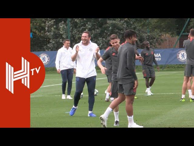 Frank Lampard leads Chelsea training ahead of Champions League return!