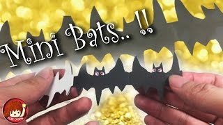 How to make Bats Paper Chain - For Halloween