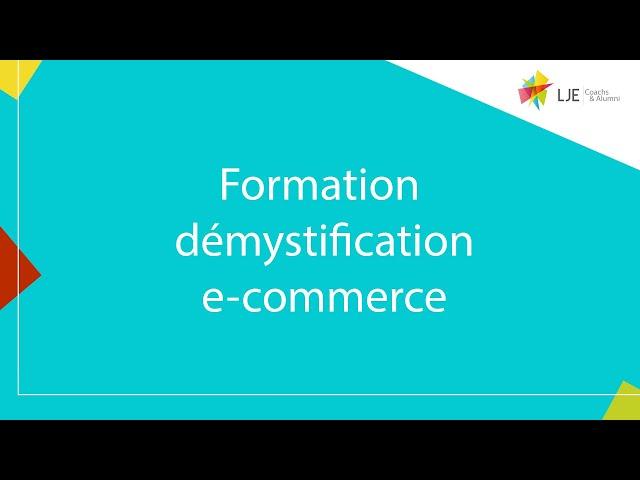 Formation démystification du e-commerce