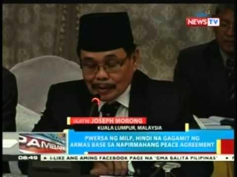 BP: GPH at MILF, pinirmahan na ang peace agreement