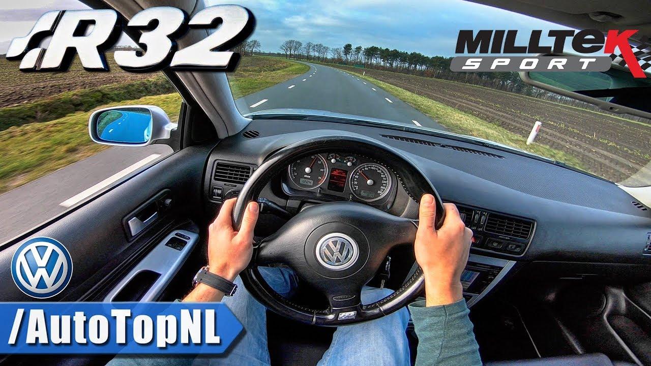 vw golf 4 r32 milltek exhaust pov test drive by autotopnl. Black Bedroom Furniture Sets. Home Design Ideas