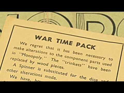 Opening a 1940s War Time Monopoly Edition