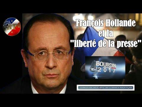 François HOLLANDE et la liberté de la Presse en 2016 dénoncés chez J.J Bourdin (Hd 720) Remix.