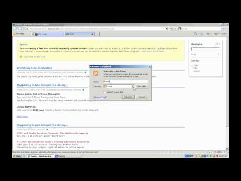 Subscribing to AU Library Intranet RSS Feeds Using...