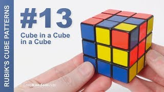 How to make Rubik's Cube Patterns #13: Cube in a Cube in a Cube