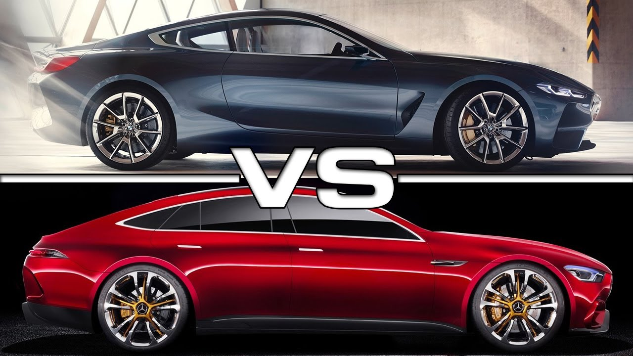 2018 Bmw 8 Series Vs 2018 Mercedes Amg Gt Concept Youtube